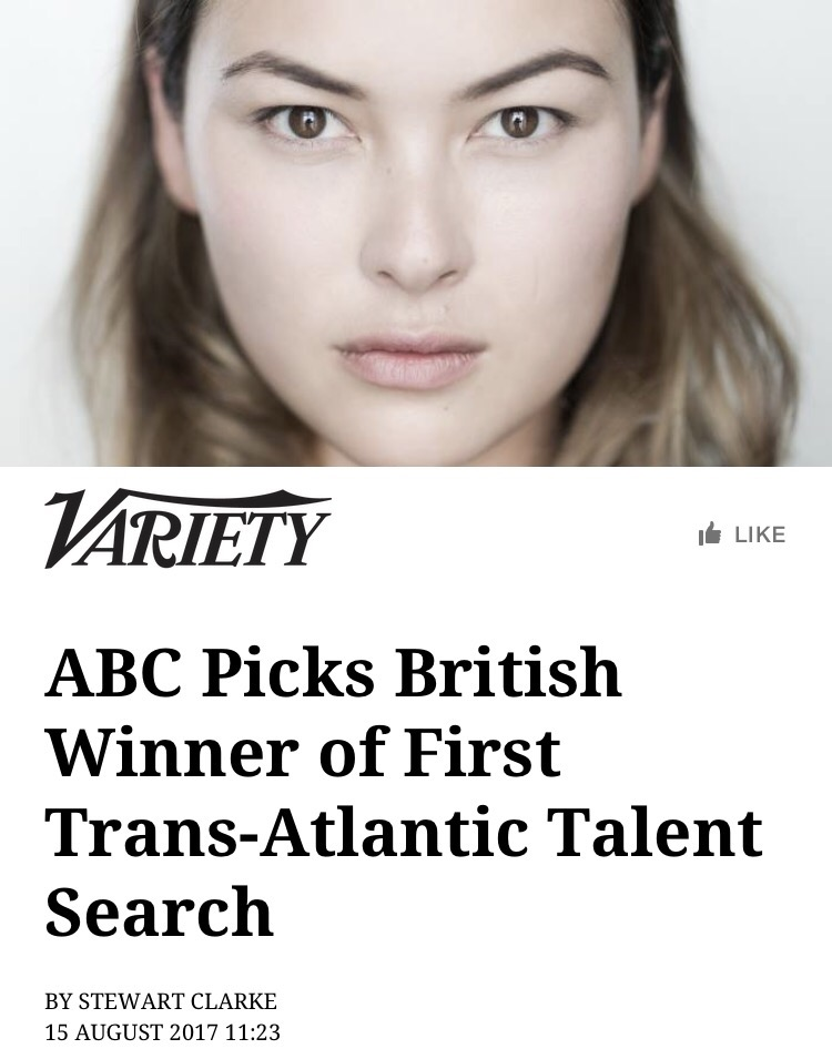 The Casting Department Of ABC Has Picked First British Winner Its Discovers Talent Competition Up And Comer Jemma Moore Who Will Now Head To